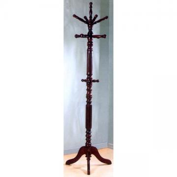 Cherry Finish Coat Rack with Spinning Top