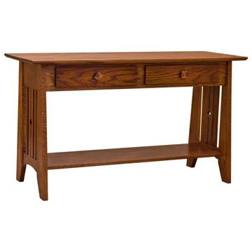 """48"""" Amish Mission Tempe 2-Drawer Sofa Table"""