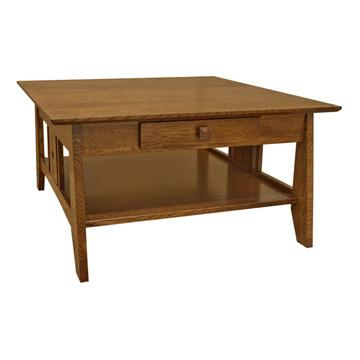 "36"" Amish Mission One Drawer Coffee Table"