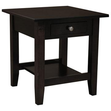 "22"" x 22"" Amish Mission Dark Finish End Table"