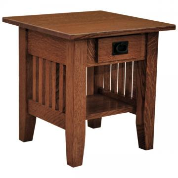 """18"""" x 19"""" Amish Mission Prairie End Table"""