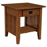 """Amish Mission 22"""" x 22"""" Prairie End Table"""
