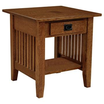 "Amish Mission 22"" x 22"" Prairie End Table"