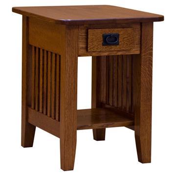 """18"""" Prairie End Table w/ Drawer"""