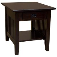 """22"""" Amish Mission Onyx End Table"""