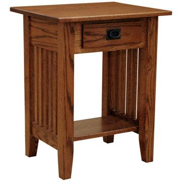 """Amish Mission 22"""" x 18"""" Prairie End Table"""