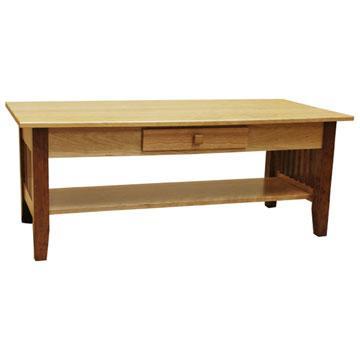 "48"" x 19"" Prairie Coffee Table w/ Drawer"