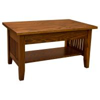 """36"""" Amish Mission Lift Top Coffee Table"""