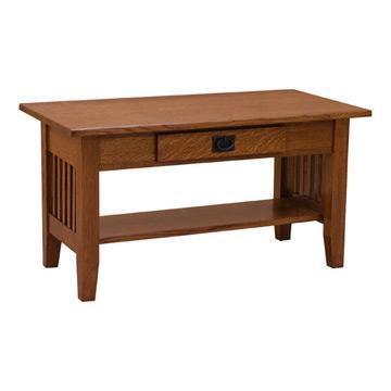 "36"" Amish Mission Prairie Coffee Table"