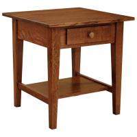 """22"""" x 22"""" Amish Mission Shaker End Table w/ Drawer"""