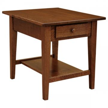 """22"""" x 26"""" Amish Mission Shaker End Table"""