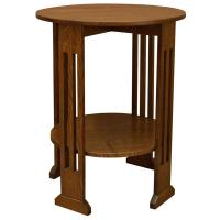 """24"""" Round Mission Spindle End Table"""