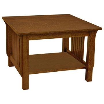 """30"""" x 30"""" Amish Mission Spindle End Table"""