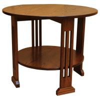 """30"""" Round Amish Mission Coffee Table"""