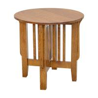 """Mission 24"""" Round End Table"""