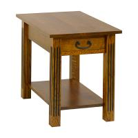 Fluted Mission End Table