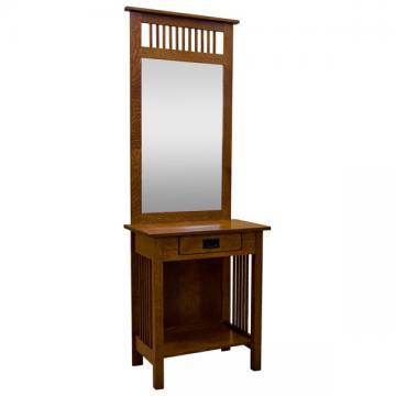 "27"" Amish Traditional Dressing Mirror w/ Drawer"