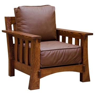 Amish Mission Leather Chair