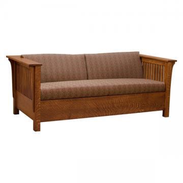 Amish Prairie Sleep Sofa Bed- 1/4 White Oak