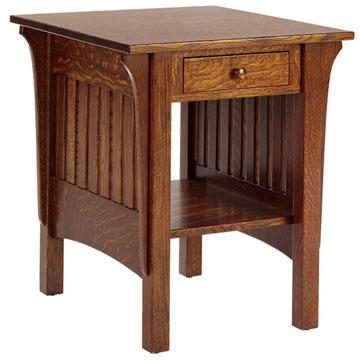 "22"" Amish End Table w/ Drawer"
