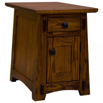 """16"""" Amish Mission One Drawer-One Door End Table"""
