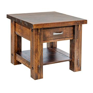Rustic Timber End Table