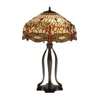 "30"" Tiffany Hanginghead Dragonfly Table Lamp"
