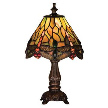 "11"" Tiffany Hanginghead Dragonfly Mini Lamp"