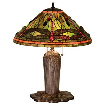 "25""H Tiffany Dragonfly Table Lamp"