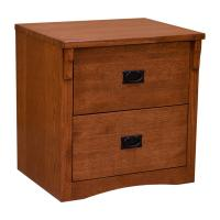 Rolling 2-Drawer Mission File Cabinet