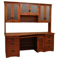 "80"" Mission Desk w/ Hutch"