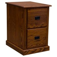 Two Drawer Mission Letter File Cabinet, Red Oak