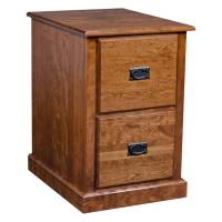Mission 2 Drawer File Cabinet-Cherry