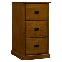 Three Drawer Amish Mission Legal File Cabinet