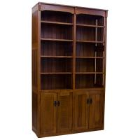 "Amish Mission 48"" x 84"" Bookcase w/ Doors"