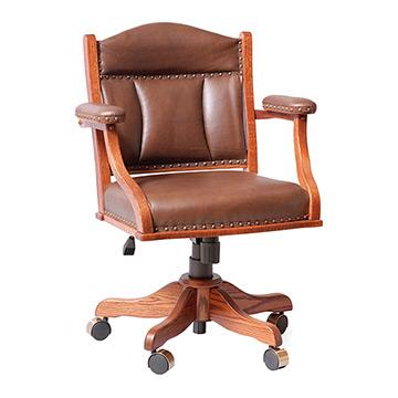 Leather Office Desk Arm Chair