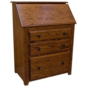 Drop Front Desk >> Amish Traditional Drop Front Desk