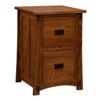 Two-Drawer Amish Mission File Cabinet, Red Oak