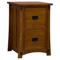 "22"" Amish Mission Two-Drawer File Cabinet"
