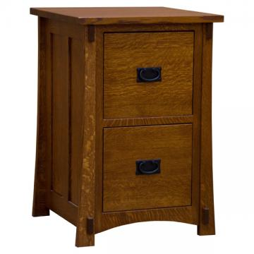 """22"""" Amish Mission Two-Drawer File Cabinet"""