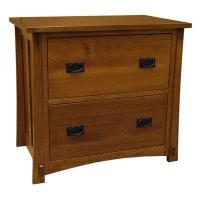 Amish Mission Two-Drawer File Cabinet