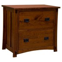 "35"" Amish Mission 2-Drawer Lateral File Cabinet"