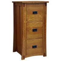 Executive Oak 3 Drawer File Cabinet
