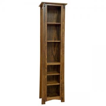 "18"" x 72"" Amish Mission Pine Bookcase"