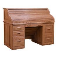 Roll Top Desk - Red Oak