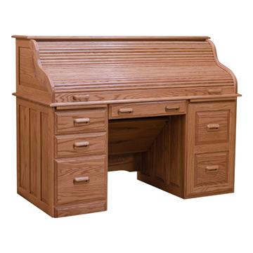 Roll Top Desk - Red Oak