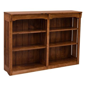 "48"" x 36"" Spindle Bookcase - Brown Maple"