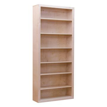 Contemporary Bookcase - Natural Finish