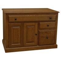 "42"" x 30"" Amish Traditional Credenza Desk"