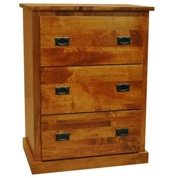 Amish 3 Drawer Lateral File Cabinet B Maple